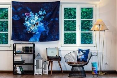 home-bath Duvar Örtüsü Flowers Of The Universe Renkli